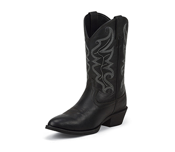 Justin Boots Men S Black Stampede Boots 2566 High Plains