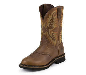 Justin Boots Men S Sunset Round Toe Stampede Boots Wk4655 High Plains Cattle Supply