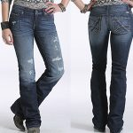 Image of women's blake low rise, slim boot cut jeans from Cruel Girl