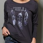 Image of women's free & fearless long sleeve jersey pullover from Cruel Girl