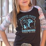Image of girl's rodeo days half sleeve baseball tee from Cruel Girl