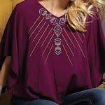 Image of women's burgundy flutter sleeve woven top from Cruel Girl