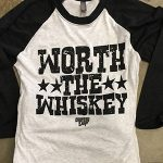 COUNTRY DEEP WORTH THE WHISKEY STATEMENT BASEBALL TEE