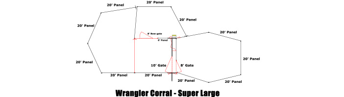 Linn Post & Pipe Wrangler Corral Super Large