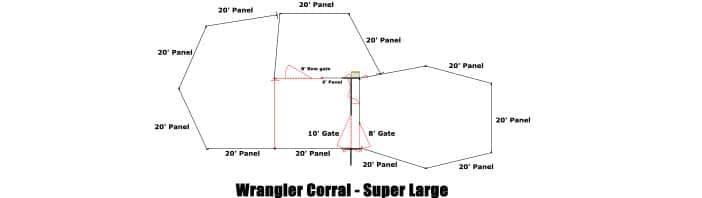 Linn Post & Pipe Wrangler Corral Super Large
