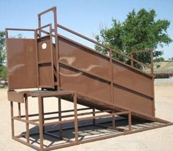 Blattner Livestock Permanent Load Out Chute High Plains Cattle