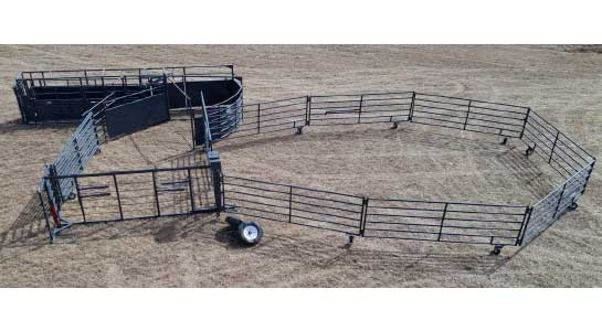 Linn Post & Pipe Bulldog Wrangler Portable Corral Expanded Corral View