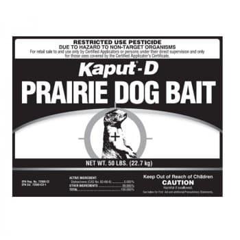 Kaput-D Prairie Dog Bait Label