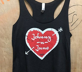 COUNTRY DEEP JOHNNY N JUNE STATEMENT RACERBACK TANK TOP