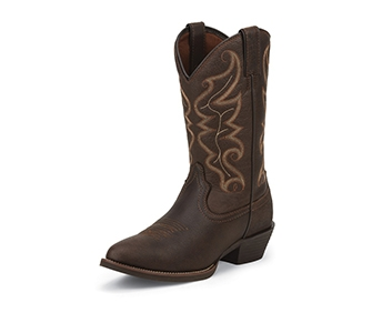 JUSTIN BOOTS MEN'S CHOCOLATE STAMPEDE BOOTS 2565