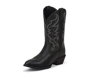JUSTIN BOOTS MEN'S BLACK STAMPEDE BOOTS 2566
