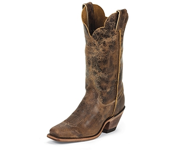 JUSTIN BOOTS WOMEN'S TAN ROAD CRACKLE BENT RAIL BOOTS BRL122