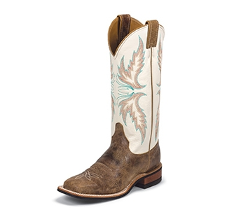 JUSTIN BOOTS WOMEN'S TAN PUMA COWHIDE BENT RAIL BOOTS