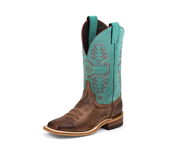 JUSTIN BOOTS WOMEN'S RUST FLORENCE BENT RAIL BOOTS BRL355