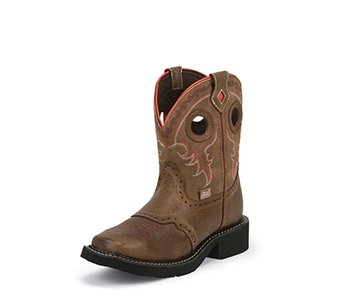 JUSTIN BOOTS WOMEN'S DISTRESSED TAN GYPSY BOOTS L9622