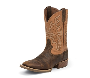JUSTIN BOOTS MEN'S SUNTAN SILVER COLLECTION BOOTS SV7223