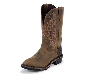 JUSTIN BOOTS MEN'S RUGGED RANCH GAUCHO BOOTS 13 WK4646