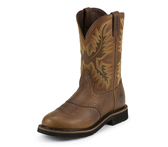 JUSTIN BOOTS MEN'S SUNSET ROUND TOE STAMPEDE BOOTS WK4655