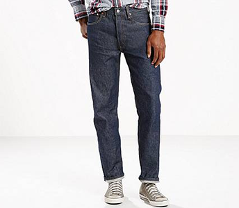 LEVI'S 501 ORIGINAL SHRINK TO FIT JEANS IN RIGID