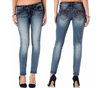 Miss Me Mid-Rise Ankle Skinny P8730AK