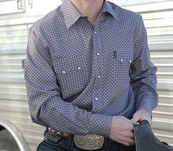 cinch men's square print snap front western shirt mtw1301013