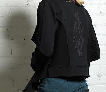 cruel girl black long sleeve cropped cardigan cwk7031001