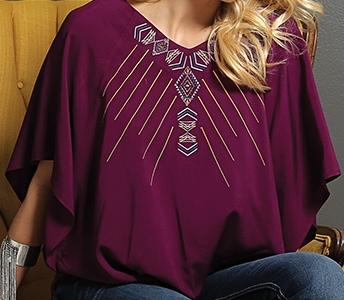 Cruel Girl burgundy flutter sleeve woven top ctw9366002