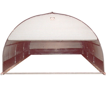 Port-A-Hut 10′ and 12′ Portable Shelter with Top Half Front Door