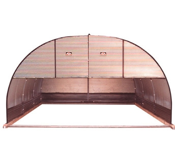 Port-A-Hut 14′ Portable Shelter with Top Half Front Door