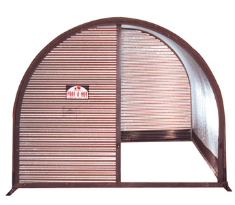 Port-A-Hut 4.5′ x 7.5′ Portable Shelter with Half Front Door