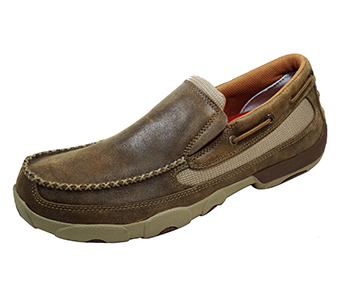 Twisted X MDMS002 Slip-On Driving Moccasin in Bomber