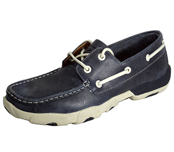 Twisted X WDM0004 2-Eye Driving Moccasins in Blue Bomber