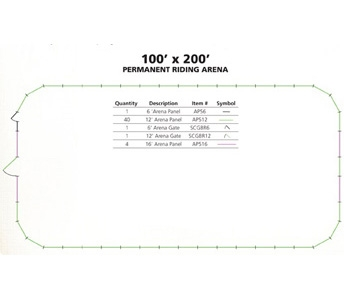 Tarter 100′ x 200′ Permanent Riding Arena Package