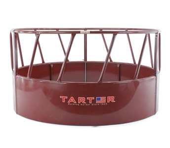 Tarter 3 Piece Bull Round Bale Hay Feeder with Hay Saver