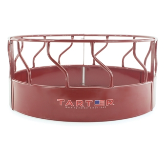 Tarter 3 Piece S Bar Round Bale Hay Feeder with Hay Saver