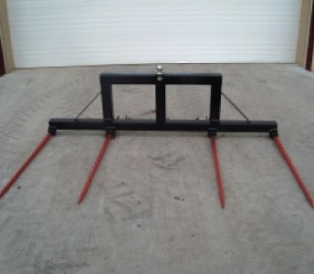 Weiss Master Double 3 Point Bale Fork with Ball Hitch