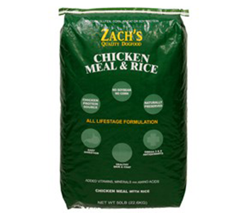 Zach's Quality Dog Food Chicken Meal & Rice