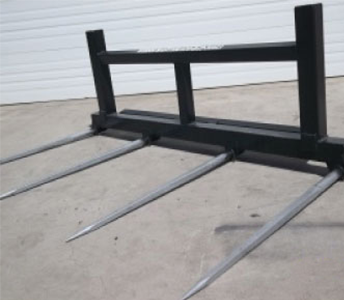 Weiss Master 4 Tine Double Round Bale Fork